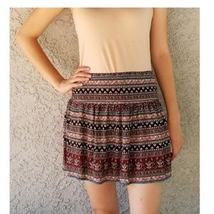 Hollister Bohemian Print Mini Skirt